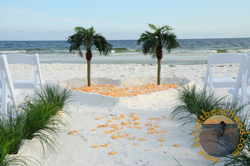 Large photo of Streamers Tiki Palms Heart in the Sand package